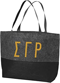 Sigma Gamma Rho Large Felt Tote Charcoal/Black
