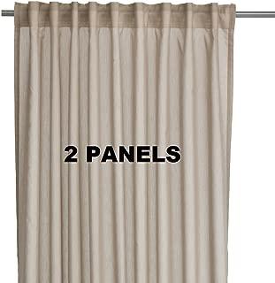 Ikea VIVAN Pair of Curtains, Drapes, 2 panels Beige Color