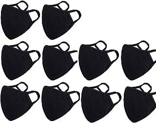 Fashion Protective, Reusable Cotton Fabric, Unisex Black Cotton, Washable-10 Pack