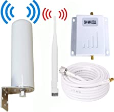 Cell Phone Signal Booster ATT T-Mobile 4G LTE Band12/17 700MHz FDD AT&T Cell Signal Booster Mobile Phone Signal Booster Amplifier Signal Booster Repeater SHWCELL with Whip+Omni Antennas Kits for Home