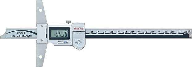 Mitutoyo 571-203-20 ABSOLUTE Digimatic LCD Depth Gauge, Caliper Type, 0-300mm Range, 0.01mm Graduation, +/-0.03mm Accuracy