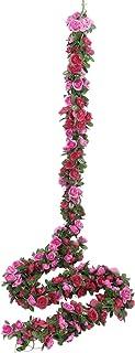 Miracliy 5 Pack 41 FT Fake Rose Vine Flowers Plants Artificial Flower Hanging Rose Ivy Home Hotel Office Wedding Party Gar...