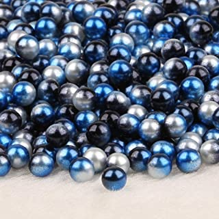 BellyLady 250pcs Artificial Pearl Beads for Girls Kids Diy Bracelet Arts 4-10mm Round Beads Jewellery Craft Silver, black ...