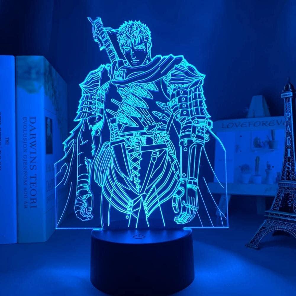 Cheap bargain Berserker Japanese Anime Light Sign Long-awaited LED Colo Lamp Illusion 3D 16