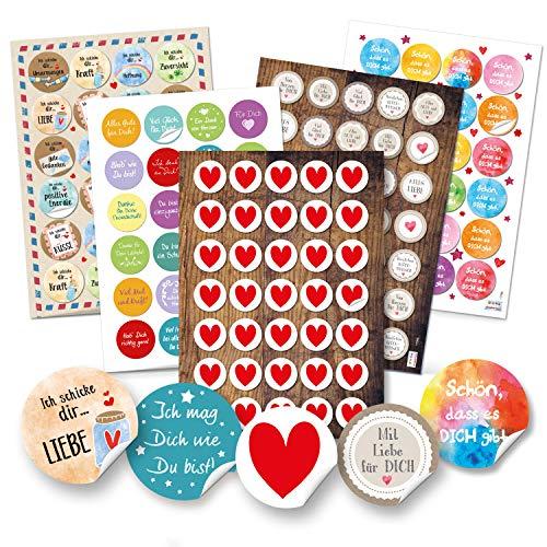 Logbuch-Verlag Deko Sticker SET Sprüche Worte Zitate Liebe Motivation und Kraft 2020 Aufkleber give-away Freunde Familie Großeltern Eltern Kollegen