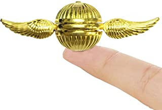 Golden Angel Wing Fidget Hand Spinners Toy Focus Copper SNITCH Toy Stainless Steel Metal Fidget Toys Fingertip Gyro Stress Relief EDC ADHD Cube Fun Party Favors Toy Gifts Bulk For Kids Adults (Gold)
