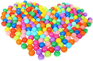 Guangdejin E-commerce Co., Ltd. Pack of 100 Colorful Non-Toxic Crush Proof Play Balls Pit Balls Plastic Phthalate Free BPA 7 Colors Ocean Ball for Kids Playhouse Pool Ball Pit Accessories 2.16 Inches