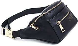 | The Original Fanny Pack Waist Bag | Back-in Black Cute Trendy Womens All Purpose Faux Leather Travel Bag