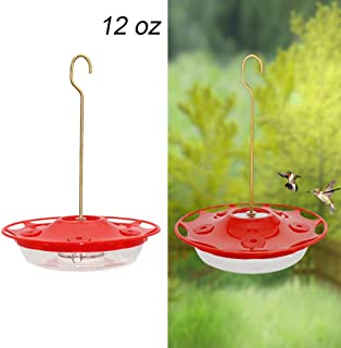 Juegoal 12 oz Hanging Hummingbird Feeder