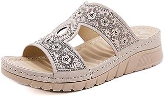 ZAPZEAL Sandale Plate Été Bohème Mules Femme Compensees Plateforme Sandales et Nu-Pieds Chaussures Talon Bas Confortable L...