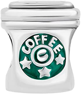 Cory Keyes Classic Coffee Cup Charm Beads for Bracelets