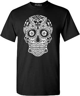 Day of The Dead White Skull T-Shirt