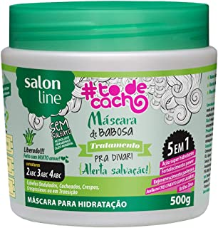 Linha Tratamento (#ToDeCacho) Salon Line - Mascara de Babosa {Alerta Salvacao} 500 Gr - (Salon Line Treatment (#IHaveCurls) Collection - Aloe Vera Mascara {Rescue Alert} Net 17.63 Oz)