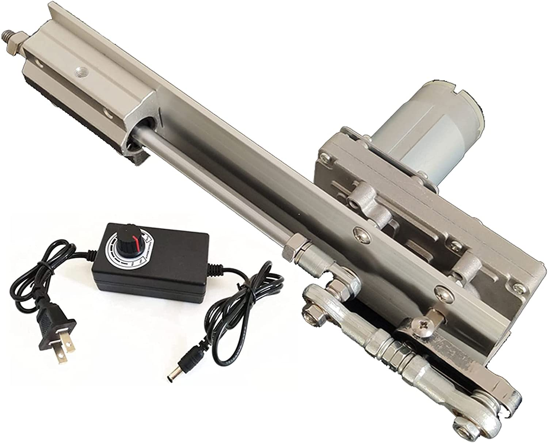 Koncy Actuador Lineal de Ciclo Alternativo 12V 24V con Mando 45rpm/90rpm/120rpm Telescópico Carrera 20-80mm 30-150mm (Size : 12V Stroke 2-8cm/90rpm)