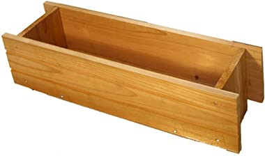 """Cedar Window Box Planter - Decay and Insect Resistant Ultra Tough Lightweight - 24""""H x 7""""W x 6""""D"""