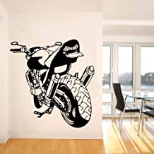 Wall Tattoo,Wall Stickers,Art Decal Decor Poster Removable Decoration Mural Large Motorcycle Motorbike Wall Decal Garage Boy Room Motocross Racing Sport Car Vehicle Bedroom 44x44cm