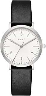 DKNY Women's Quartz Stainless Steel and Leather Casual Watch