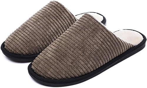 Pantoufles En Coton Pour Femmes Antidérapantes Chaudes Pour La Maison Intérieure Pantoufles En Coton Et Lin Quelques Modèles Portent Des Chaussures En Coton Douces Pour L'hiver,marron,EU3839=25Cm
