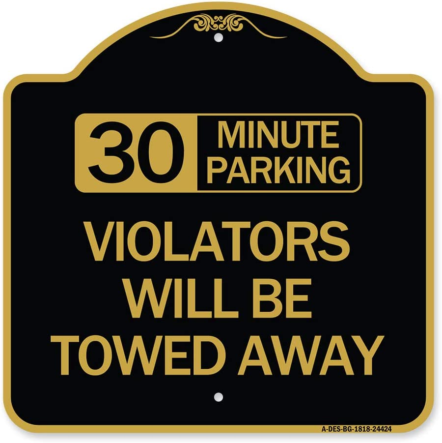 SignMission Industry No. 1 Designer Series Sign - Minute Parking Violators Ranking TOP20 30