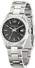 Philip Watch Caribbean r8253107510–Ladies Watch–Analogue Quartz–Black Dial–Steel Bracelet Silver