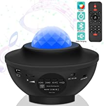 Ganeed Laser Star Projector,LED Night Light Projector with Nebula Cloud,3 in 1 Sky Ocean Wave Projection with Bluetooth Sp...