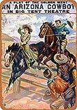 Arizona Cowboy Show Metall Blechschild Retro Metall gemalt
