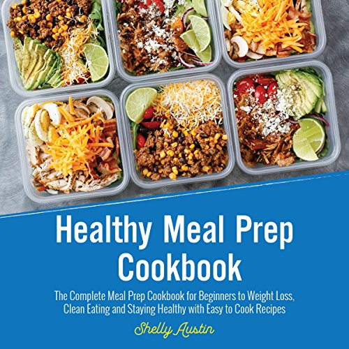 Healthy Meal Prep Cookbook audiobook cover art
