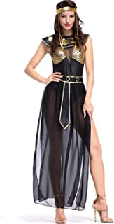 Women's Athena Greek Goddess Costume Cleopatra Costume, Egyptian Queen Costume for Halloween Cosplay