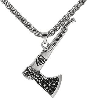 Men Viking Odin Mamen Nordic Viking Trinity Valknut Vegvisir Compass Amulet Pendant Necklace Talisman Jewelry