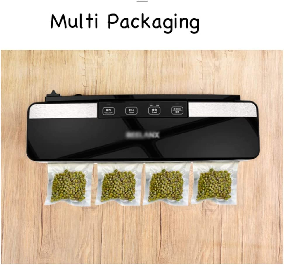 Stone Home Scellant Vide intégré Cutter Alimentation Automatique Machine à emballer sous Vide Packer for la Cuisine sèche et Humide Aliments Frais appropriés (Color : A) B