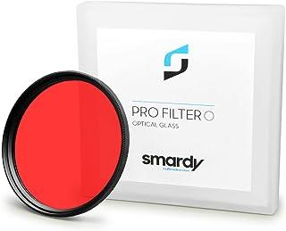 smardy Filtro de Color Rojo 67 mm Compatible con Canon EOS 40D | 5D Mark III - Nikon D5100 | D7000 - Olympus E-30 y Mucho más + High-Tech paño de Limpieza