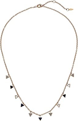 Fossil - Midnight Mosaic Fashion Triangle Necklace