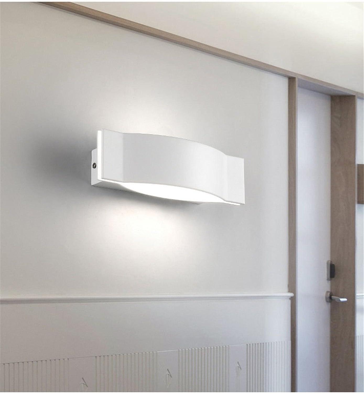 Lucky Fortress Kreative wandleuchte aluminium stil wohnzimmer wand schlafzimmer nachttischlampe treppen led licht silber 7  25  9,5 cm Wandlampe