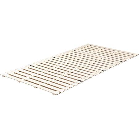 山善 すのこマット シングル 折りたたみ(四つ折りタイプ) 布団が干せる コンパクト収納 床に傷がつきにくい 通気性抜群 耐荷重90kg 完成品 ナチュラル KM4-PS(NA)