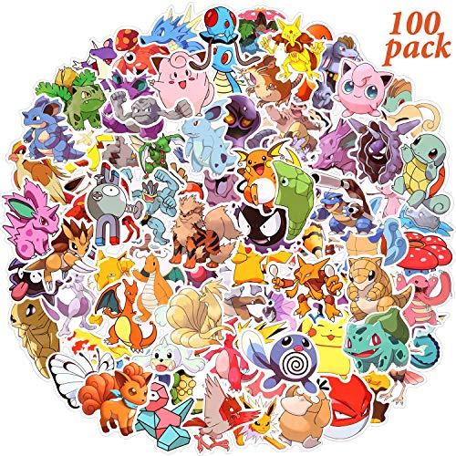 Aufkleber Pack 100 Stück, Aufkleber, Anime Sticker, Autoaufkleber, Wasserdichter Vinyl-Aufkleber, Graffiti-Stil, Sticker Set für Motorräder, Fahrräder, Skateboards, Koffer, Laptops, DIY-Partybedarf(C)