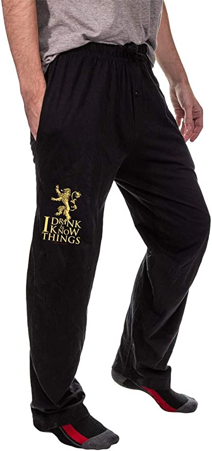Pants GOT Lounge Pajama Black Graphic GAME OF THRONES Small Elastic Waist