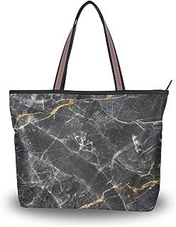 My Daily Damen-Schultertasche, Marmorstruktur, Handtasche