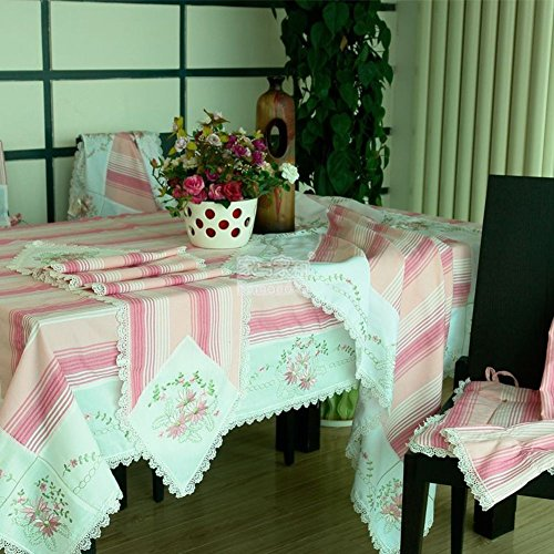 DXG&FX Oosterse mediterrane stijl tafelkleed stof Tuin verse handdoek gestreepte tafelkleed afdekdoek