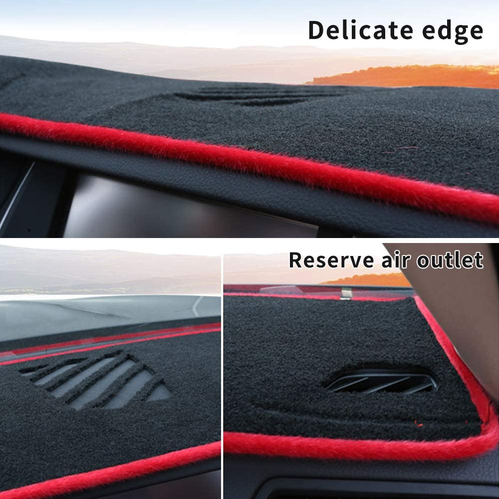 ALLYARD Custom Dash Board Cover Mat for Jeep Patriot 2009-2017 Dashboard Dash Protector Easy Installation Black