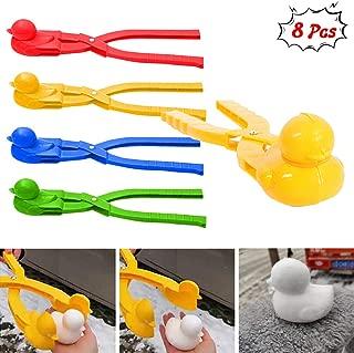 siruipu Duck Snowball Maker Snowball Tool Winter Outdoor Sport Duck Shaped Snowball Maker Clip Snow Toys for Kids Snowball Fight Beach Player