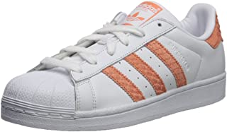 adidas Originals Women's Superstar W, White/Chalk Coral/Legacy, 11 M US