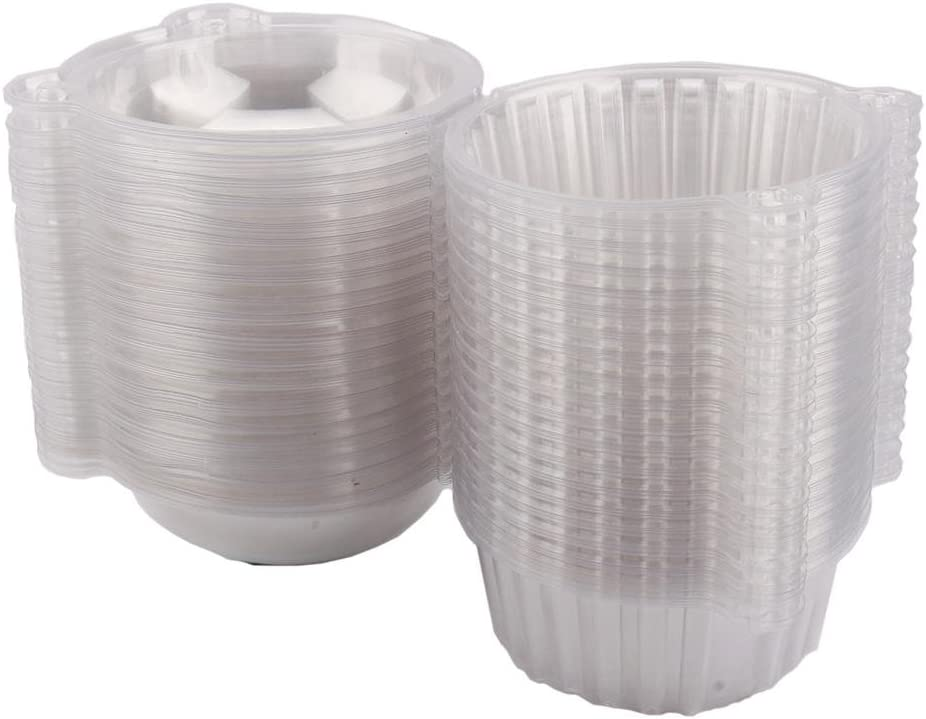 Disposable Clear Super popular Genuine specialty store Plastic Individual Bo Cupcake Container