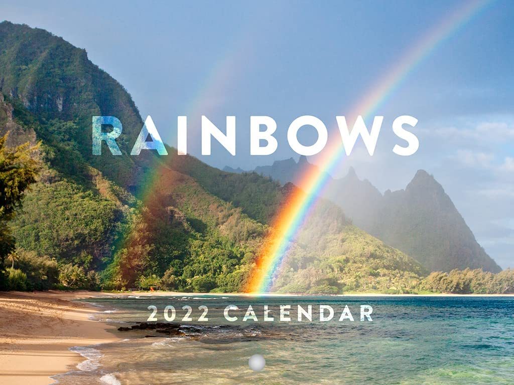 New life Rainbows 2022 Wall Calendar Rainbow free shipping Decor Nature Photogra Scenic