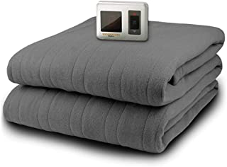 Biddeford Heated Microplush Blanket - Full (Full, Grey)