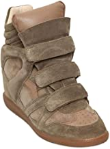 Isabel Marant Etoile 80mm Bekett Wedge Taupe Authentic $590 Sneakers Size 35 New