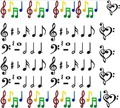 Colección de agua arte de calcomanías de uñas countries países (Notas musicales Arte de uñas Musical Notes NAIL)