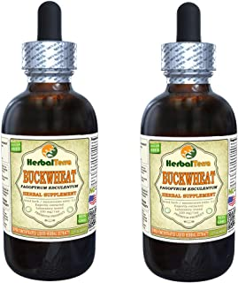Buckwheat (Fagopyrum Esculentum) Tincture, Dried Sprouting Seeds Liquid Extract (Brand Name: HerbalTerra, Proudly Made in USA) 2x2 fl.oz (2x60 ml)