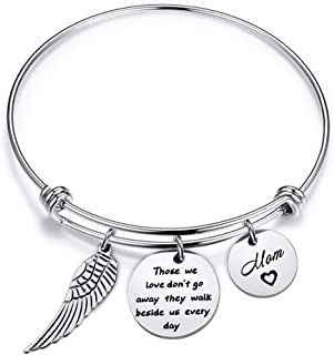 Memorial Bracelet in Memory of Dad Mom Sympathy Gift Those We Love Don't Go Away They Walk Beside Us Every Day Loss Jewelry for Her