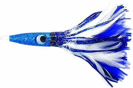 "Blue White C/&H WAHOO WHACKER RIGGED Trolling Lure 11.5/"" 6 Oz 10//0 Hook Mono"