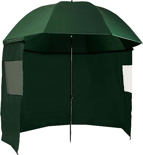 CampFeuer – parapluie de pêche 240 cm, parapluie de pêche avec coupe-vent et pinces, AS1